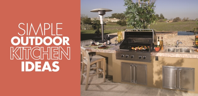 Simple outdoor kitchen ideas mr appliance blog for Simple outdoor kitchen ideas