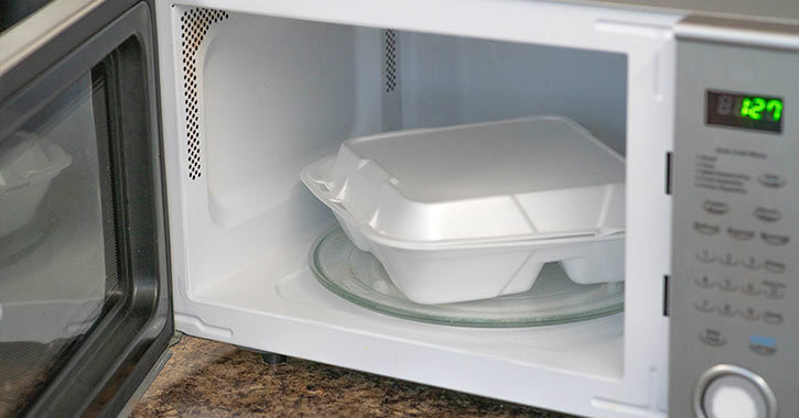 Can You Put Styrofoam In The Microwave Reheat Food Safely