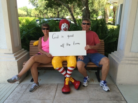 Bob & Nita Tuck with Ronald McDonald