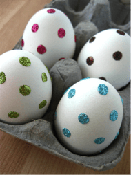 Polka-Dotted Easter Eggs