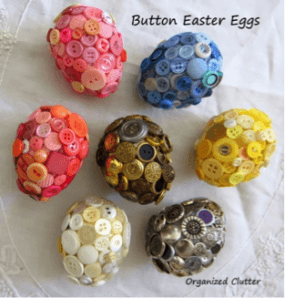 Colorful Button Easter Eggs