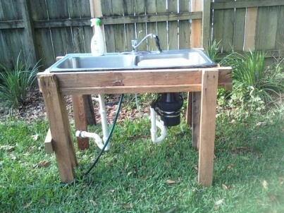 simple outdoor kitchen wood photo courtesy of thsgardenwebcom simple outdoor kitchen ideas mr appliance blog