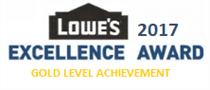 Lowe's 2017 Excellence Award | Gold Level Achievement