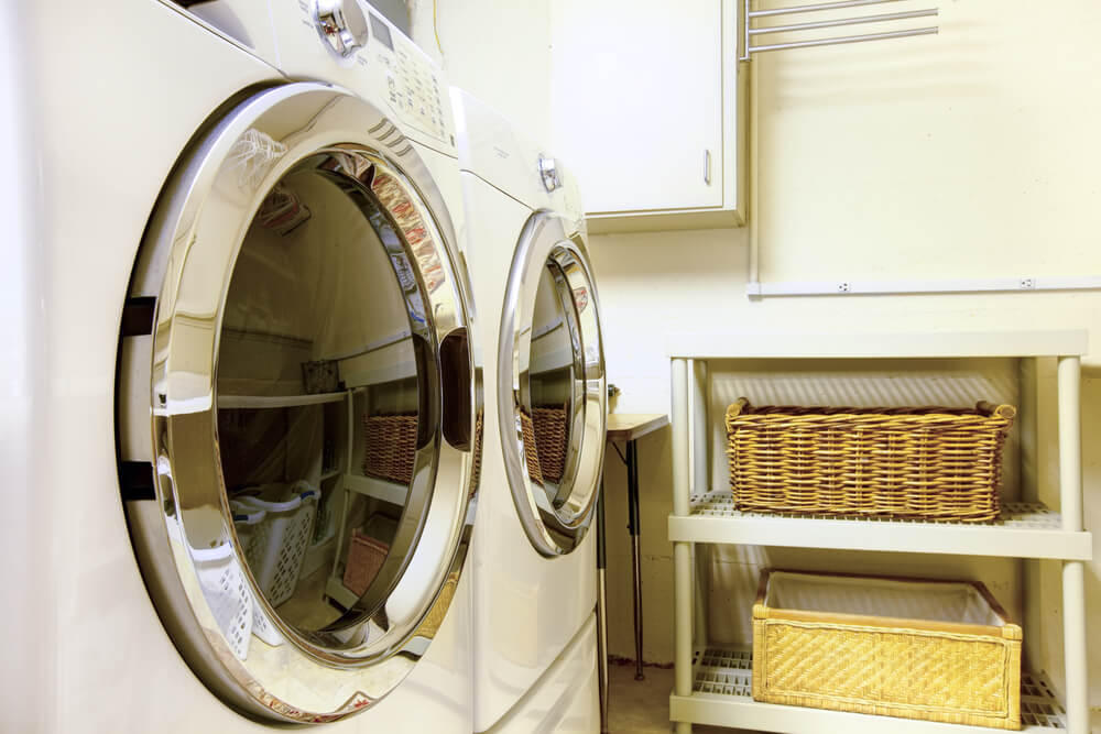 Closeup of Washer & Dryer