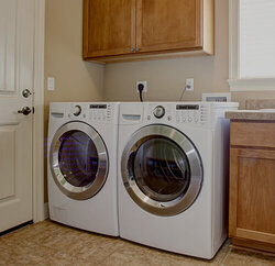 Washer and dryer ready for appliance repair tech